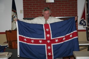 Jeff Toalson and a CSA Battle Flag